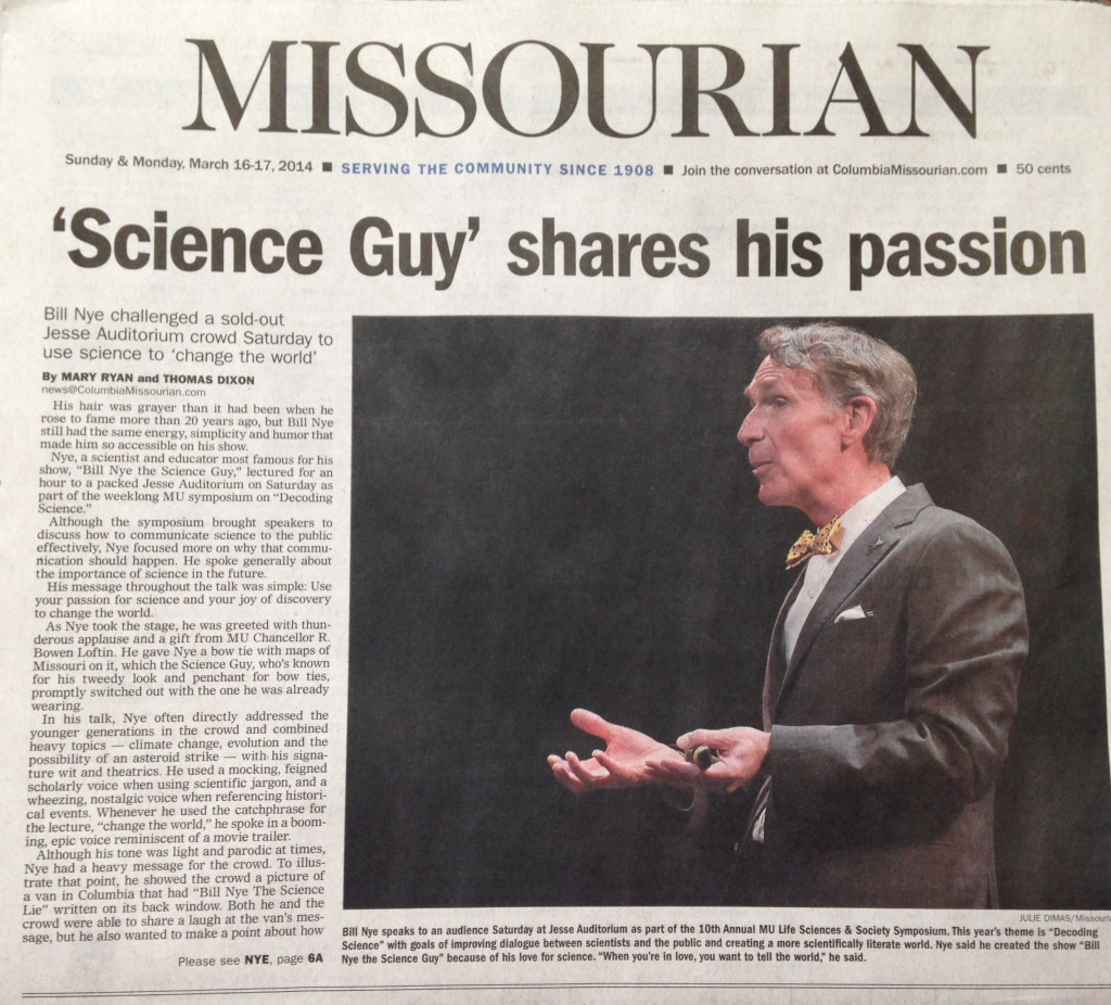Bill Nye newspaper